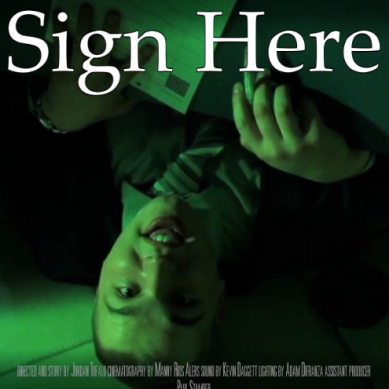 Sign Here: Writer and Director